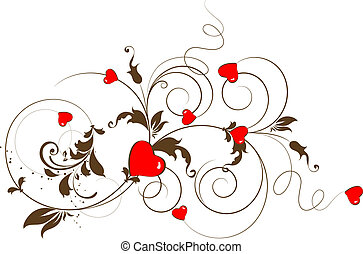 St. Valentine Day. - Abstract vector illustration for...