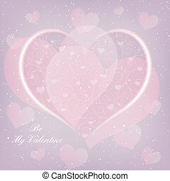 St Valentine Day Heart Shape Greeting Card
