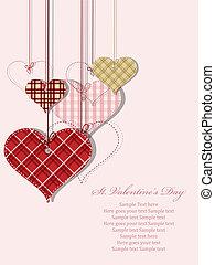 St Valentine day's greeting card - Vector St Valentine day's...
