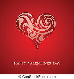 St Valentine greeting card design - St. Valentines day...