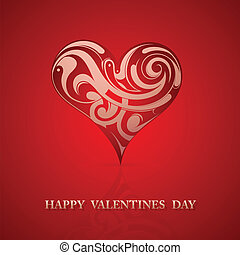 St Valentine greeting card design - St. Valentines day...