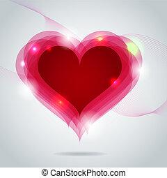 St. Valentine greeting card - Vector St. Valentine greeting...