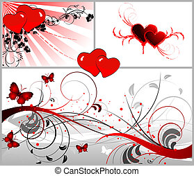 St. Valentine Set - Abstract illustration on St. Valentine...