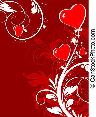 St. Valentine theme. - Abstract vector illustration for...