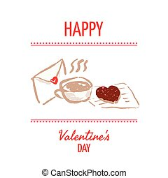 St Valentines day design element - St Valentines day vector...