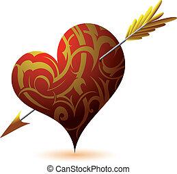 St. Valentine`s Day heart-shape - St. Valentine`s Day...