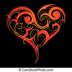 St. Valentine`s Day heart-shape