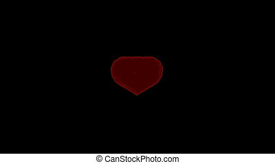 St. Valentine\'s Day heart transformation
