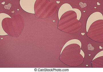 St. Valentine's Day Paper Hearts