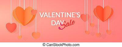 St. Valentine's day sale banner