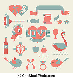 St valentine's day a vector icon set