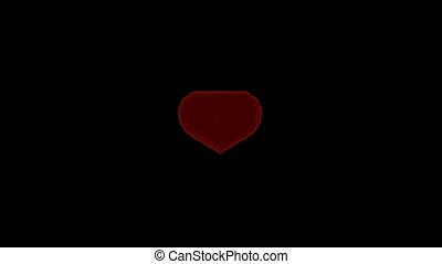 st., valentine\'s, dzień, serce, transformacja