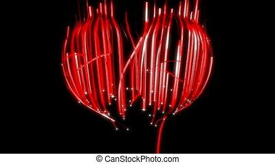 st., valentine\'s, dzień, wstążka, serce