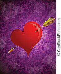 St Valentines greeting card