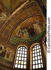 St. Vitale basilica mosaic - St. Vitale basilica church...