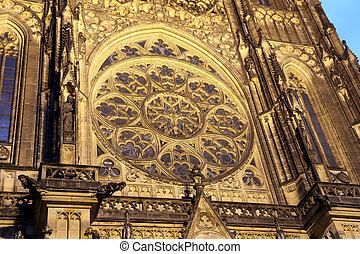 St. Vitus Cathedral (Roman Catholic cathedral ) in Prague...