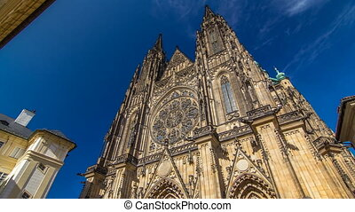St. Vitus Cathedral timelapse hyperlapse in Prague...