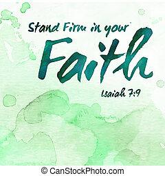 stać, firma, w, twój, wiara