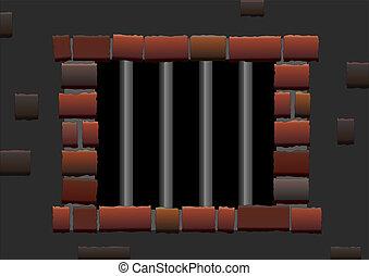 staaf, gevangenis