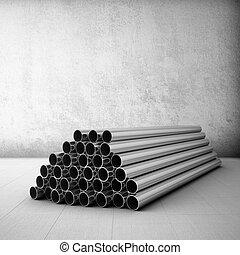staal, buizenstelsel, stapel