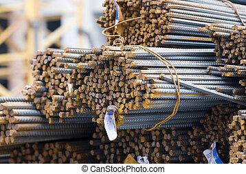 staal, close-up, bar, mismaakt, cross-sectional, hoog, ...