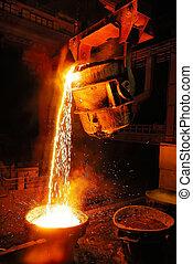 staal, fabriek, industrie, foun, molen