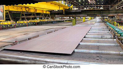 staal, fabriekshal, bladen