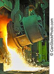 staal, gesmolten