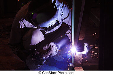 staal, industrieele werker, fabriek, spa, structuur, lassen