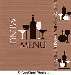 staal, menu, koffiehuis, restaurant