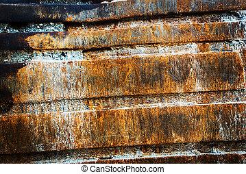 staal, muur, roestige , zacht, licht