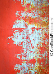 staal, oud, frame, textuur, /, achtergrond, grunge, roest, rood