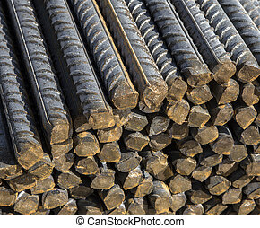 staal, staven, achtergrond, textuur