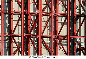 staalstralen, rood