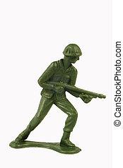 staand, soldaat, speelbal