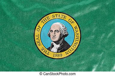 staat, amerika, washington vlag