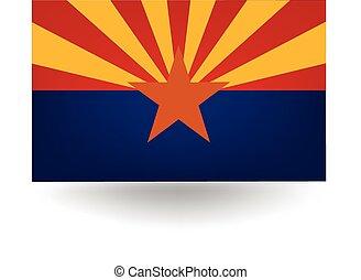 staat, arizona vlag