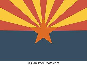 staat, arizona vlag, ons