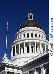 staat, californië, capitool