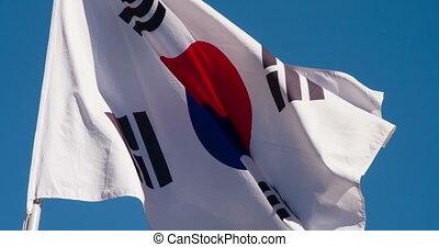 staat, korea, vlag