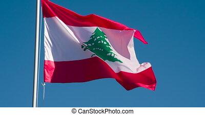 staat, lebanon vlag
