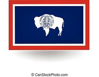 staat, wyoming vlag