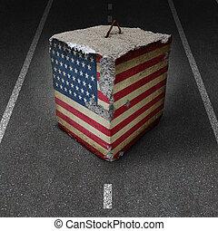 staaten, vereint, schließung, regierung