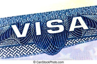 staaten, vereint, visum