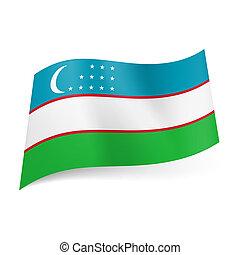 staatsvlag, van, uzbekistan.