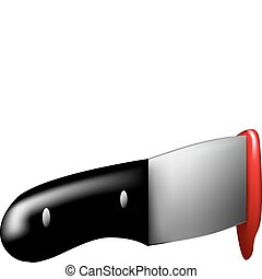 Stabbing knife - Vector illustration of a knife used to...