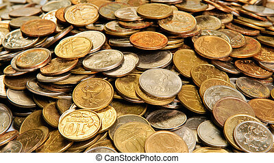 stabel, i, mønter