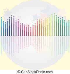 stabilisator, licht, modern, grau, many-colored, hintergrund