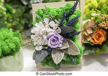 stabilisiert, dekorativ, blumen, künstlich, floristic, ...