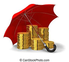 stabilité, concept, succès financier